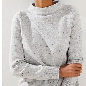 Ann Taylor loft speckled mock neck pullover